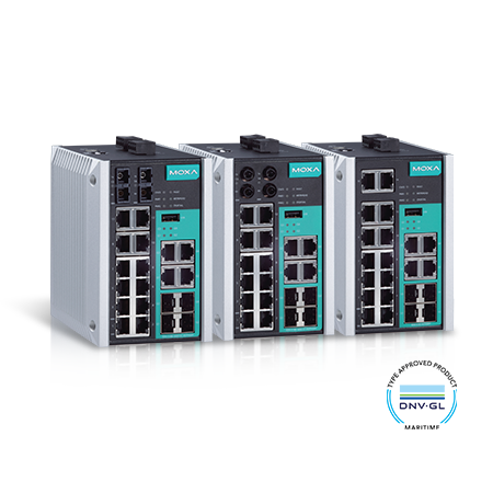 EDS-518 DIN-Rail DNV GL ABS Managed Ethernet Switches