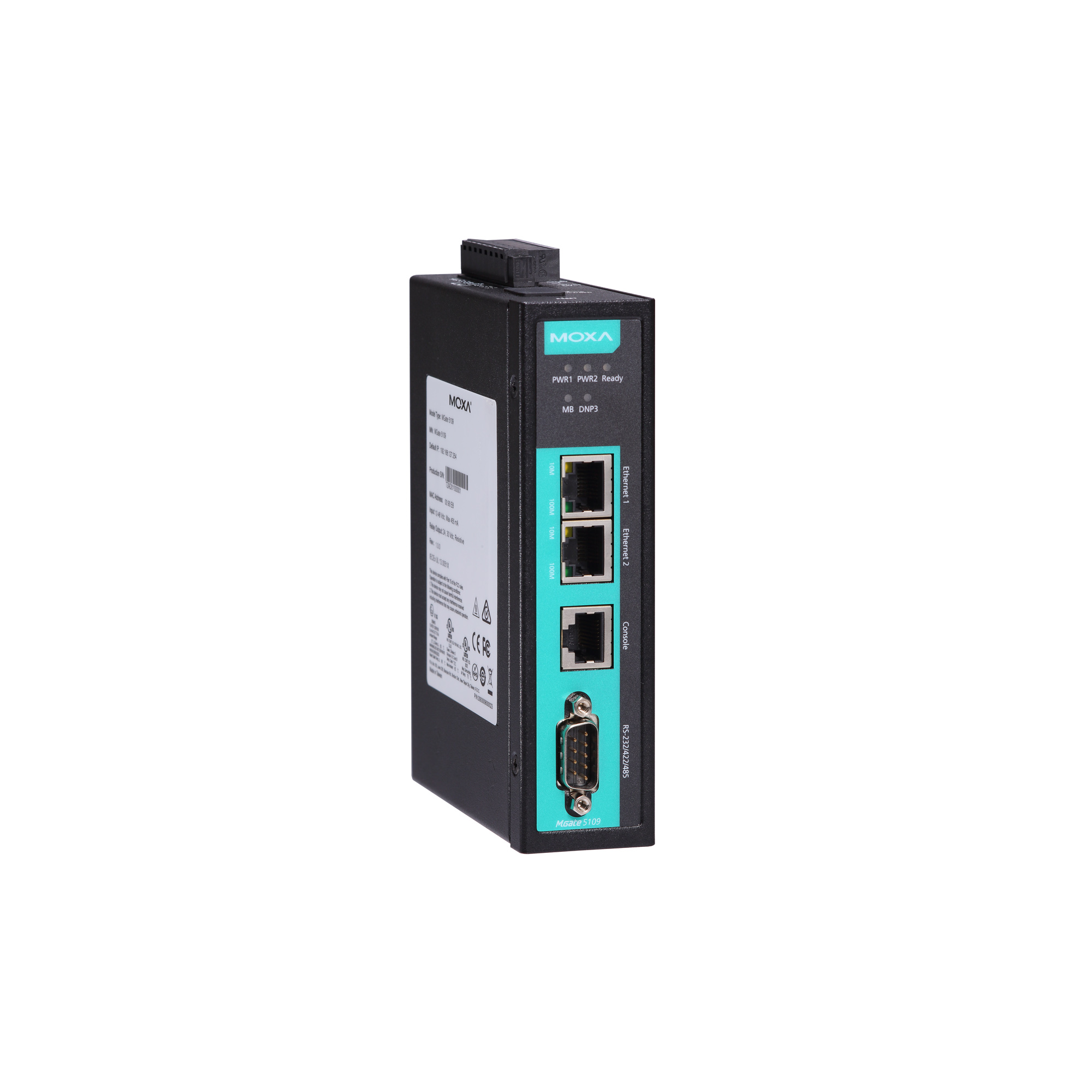 MGate 5109 Series - Modbus TCP Gateways | MOXA