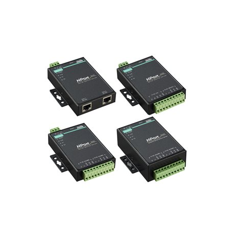 2-port RS-232/422/485 serial device servers