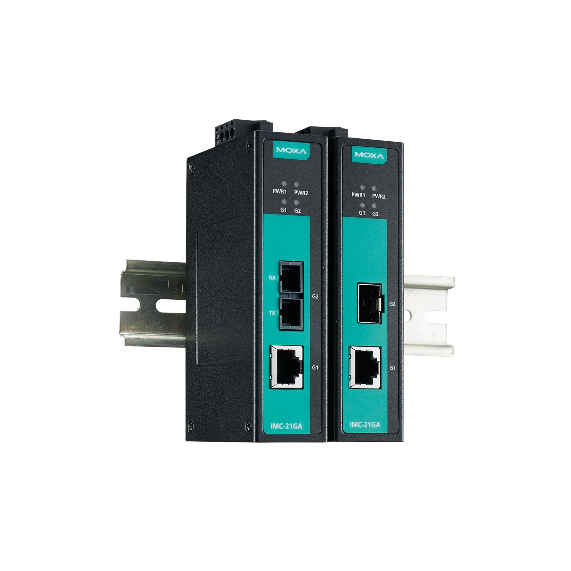 IMC-21GA Series - Ethernet-to-Fiber Media Converters   MOXA