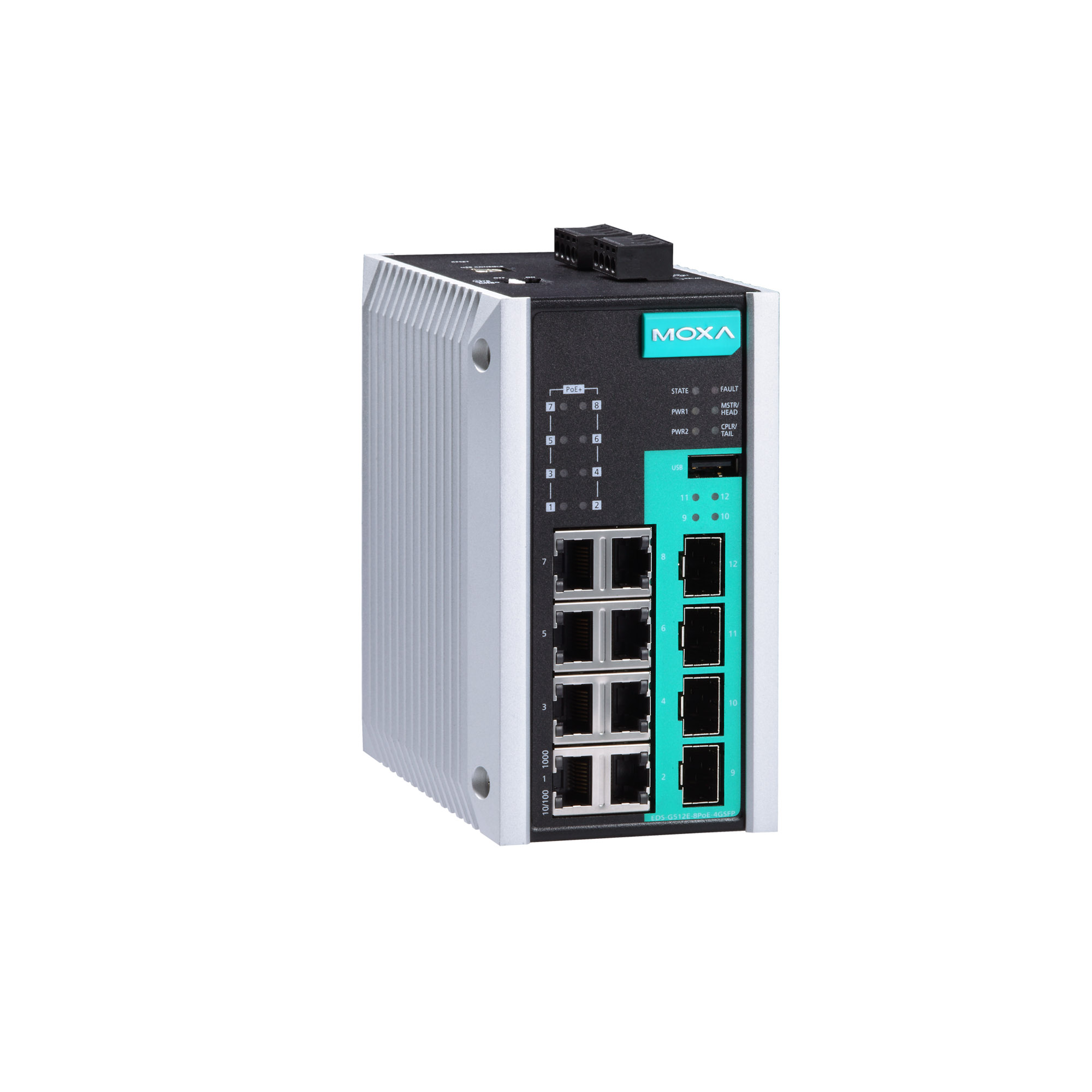 EDS-G512E Series - Layer 2 Managed Switches | MOXA